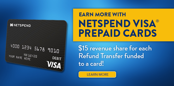 Net Spend Pre-paid Visa